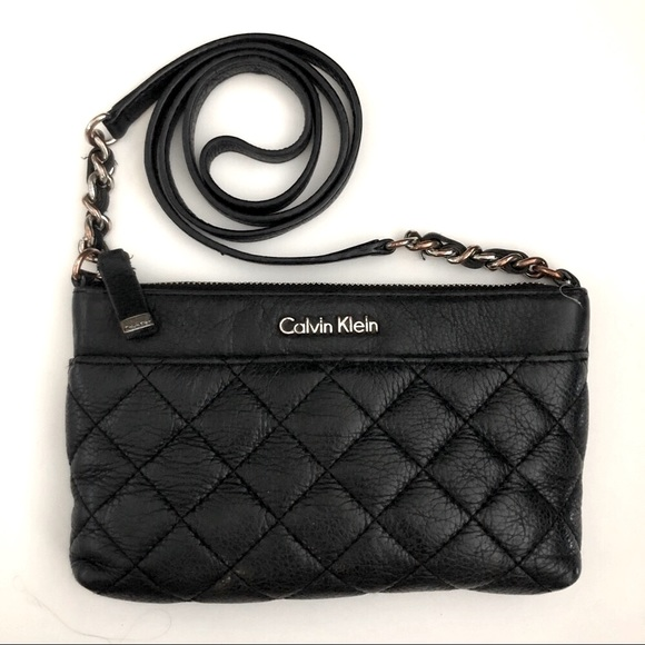 Calvin Klein Quilted leather crossbody